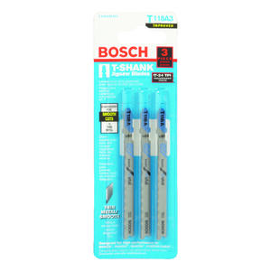 Bosch  3 in. High Carbon Steel  T-Shank  Wavy set and milled  Jig Saw Blade  24 TPI 3 pk