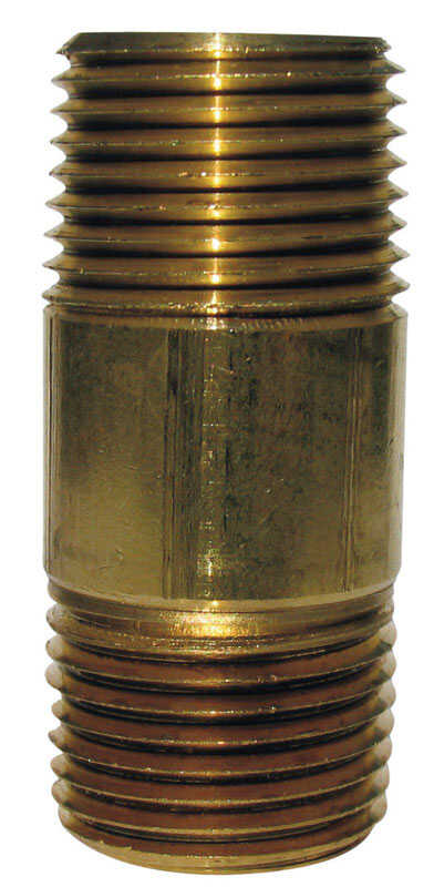 JMF 5-1/2 in.  3/4  MPT To MPT  3/4 in. Dia. Brass  Pipe Nipple
