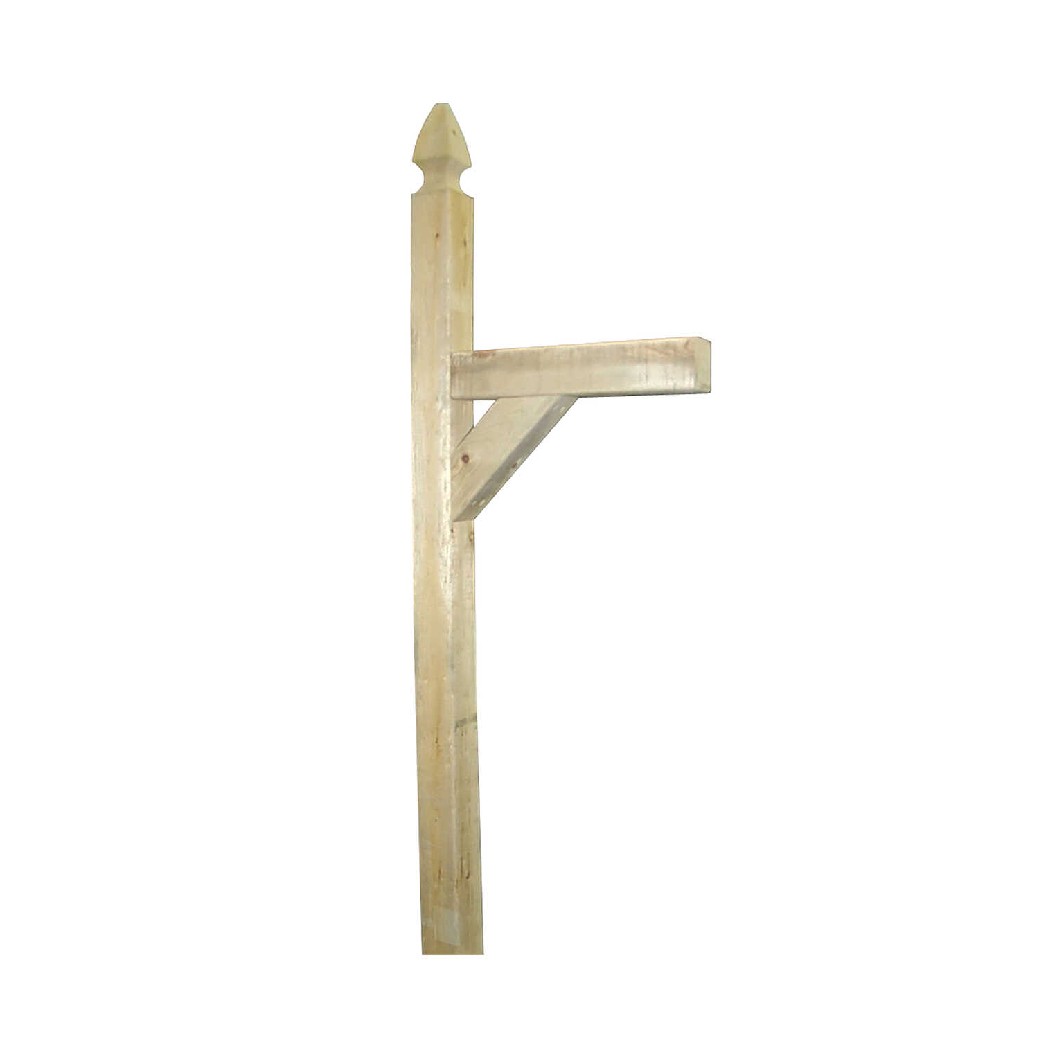 Marwood  French Gothic  72 in. H x 4 in. W Wood  Mailbox Post