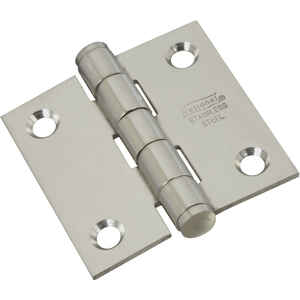 National Hardware  2 in. L Stainless Steel  Stainless Steel  Door Hinge  2 pk