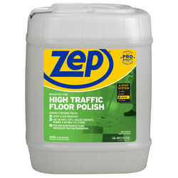 Zep  High Traffic  No Scent Floor Polish  Liquid  5 gal.