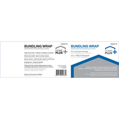 Home Plus  5 in. W x 1000 ft. L Stretch Film