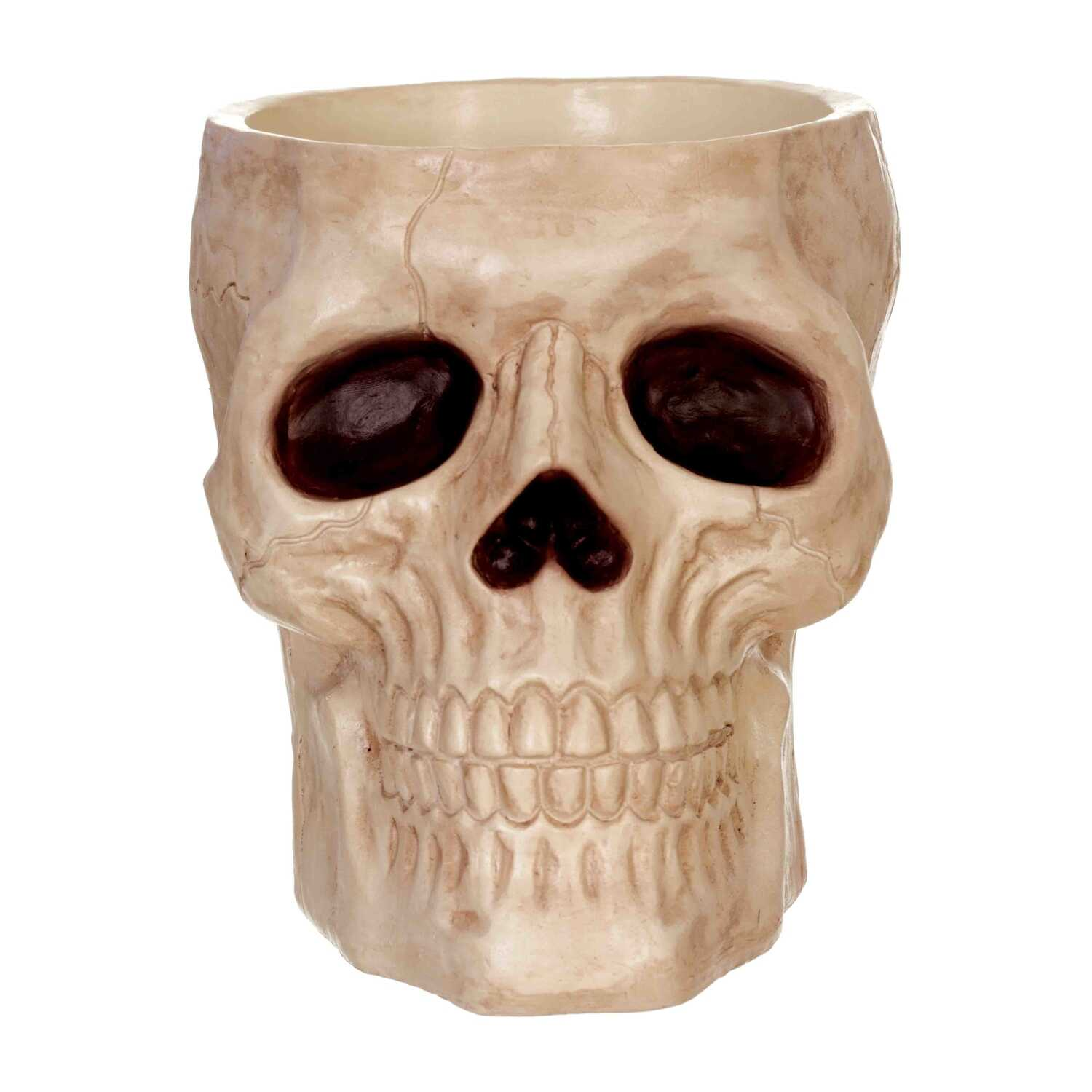 Seasons  Skull Candy Bowl  Halloween Decoration  8-1/2 in. H x 7-9/16 in. W x 9-1/2 in. L 1 each