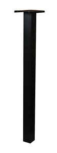 Gibraltar  51 in. H x 12 in. D x 6 in. W Powder Coated  Black  Aluminum  Mailbox Post