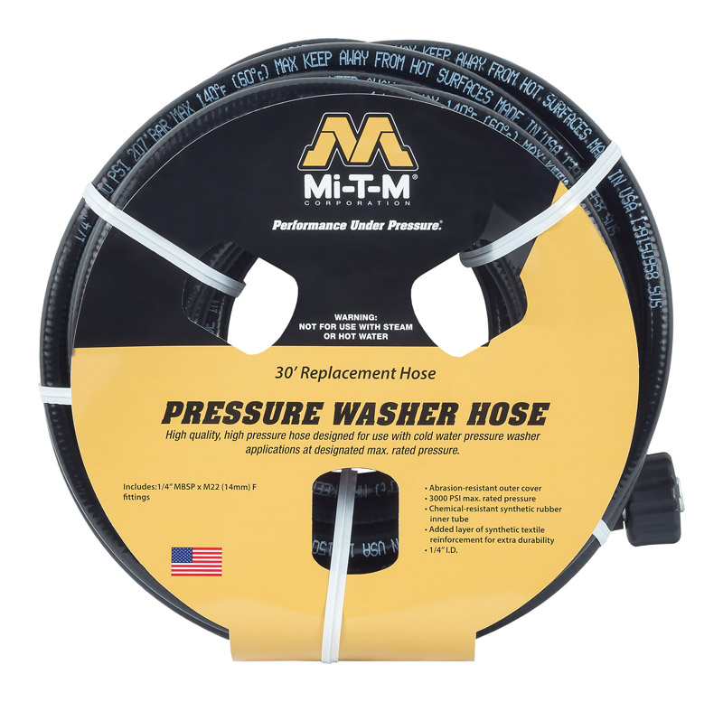 Mi-T-M  3000 psi 30 ft. L Pressure Washer Hose