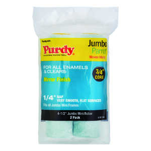 Purdy  Parrot  Mohair Blend  1/4 in.  x 4.5 in. W Mini  For Very Smooth Surfaces 2 pk Paint Roller C