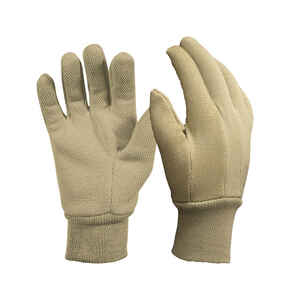 Digz  Khaki  Women's  M  Jersey Cotton  Gardening Gloves