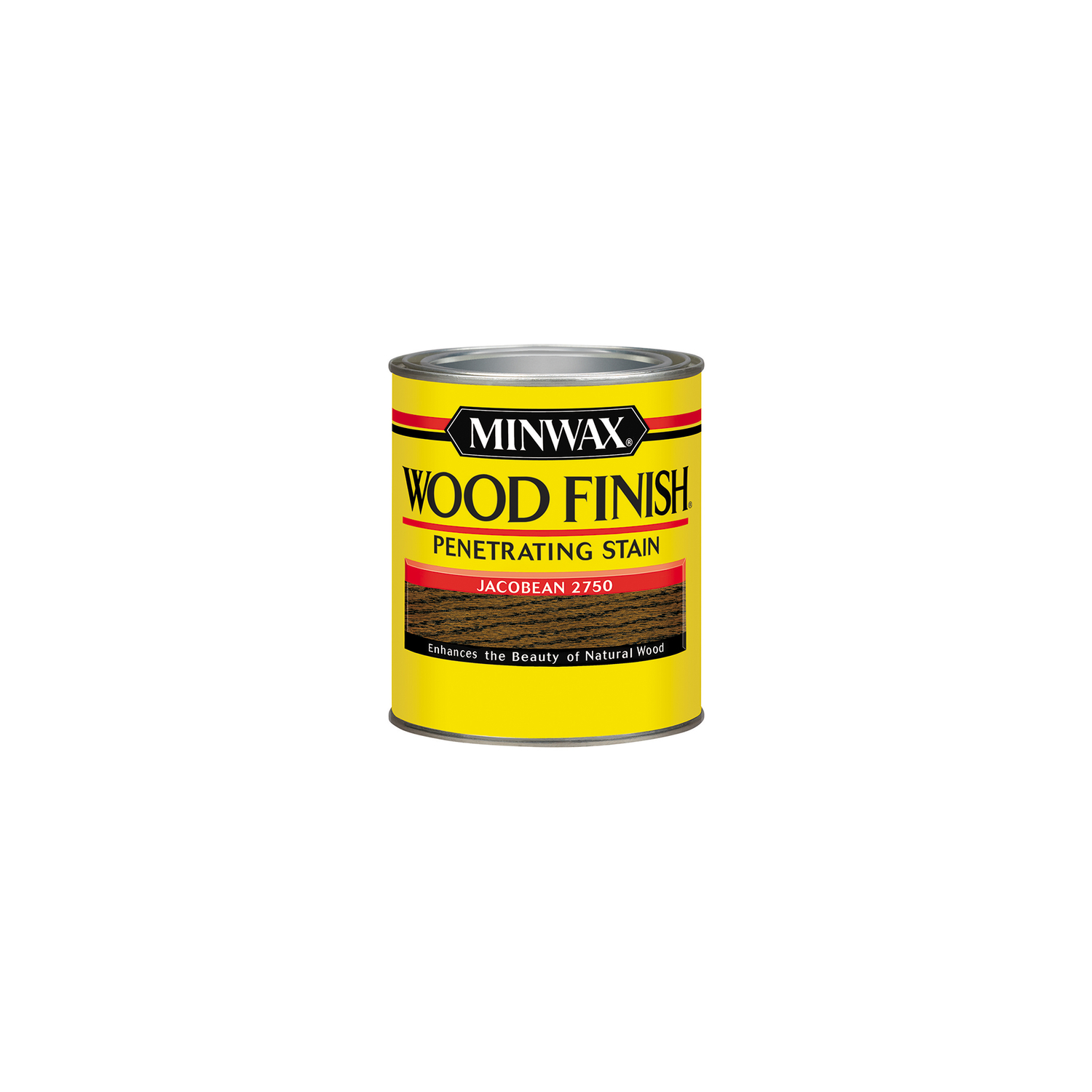 Minwax  Wood Finish  Semi-Transparent  Jacobean  Oil-Based  Oil  Wood Stain  0.5 pt.