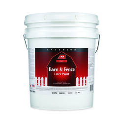 Ace  Flat  White  Acrylic Latex  Barn and Fence Paint  Outdoor  5 gal.