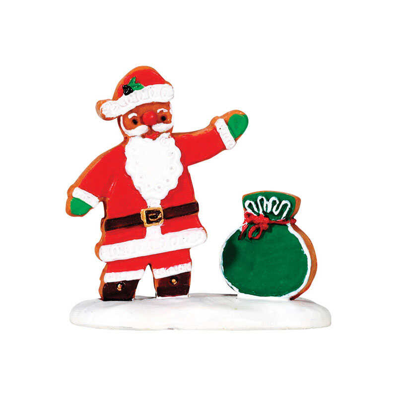 Lemax  Gingerbread Santa  Porcelain Village Accessory  Multicolored  Resin  1 pk