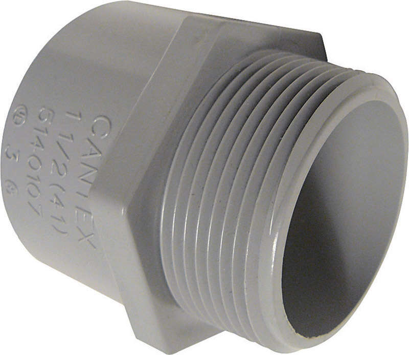 Cantex 1 in. Dia. PVC Male Adapter For PVC 1 pk
