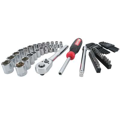 Craftsman  3/8 in. drive  Metric and SAE  6 Point Mechanic's Tool Set  63 pc.