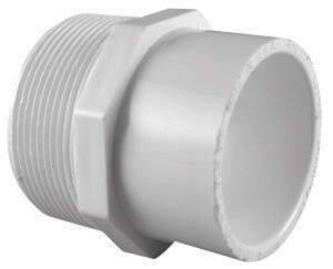 Charlotte Pipe  Schedule 40  1/2 in. MPT   x 3/4 in. Dia. Slip  PVC  Pipe Adapter