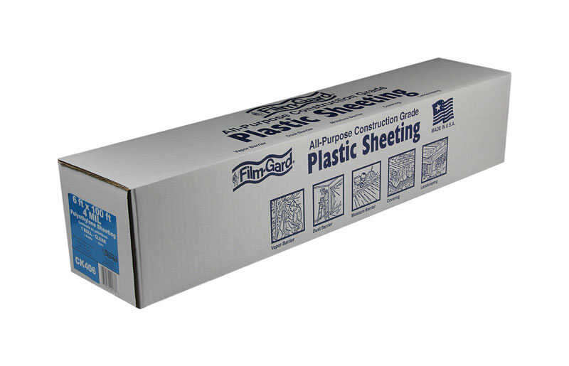 Berry Plastics  Film-Gard  Plastic Sheeting  4 mil  x 6 ft. W x 100 ft. L Polyethylene  Clear