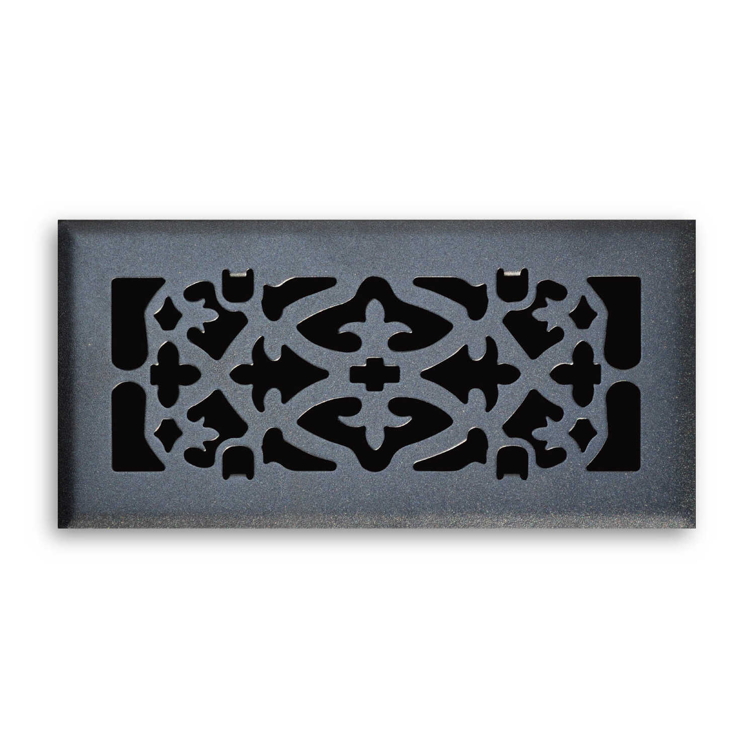 Tru Aire  2 in. H x 2-11/16 in. D 1-Way  Matte  Black  Steel  Floor Diffuser