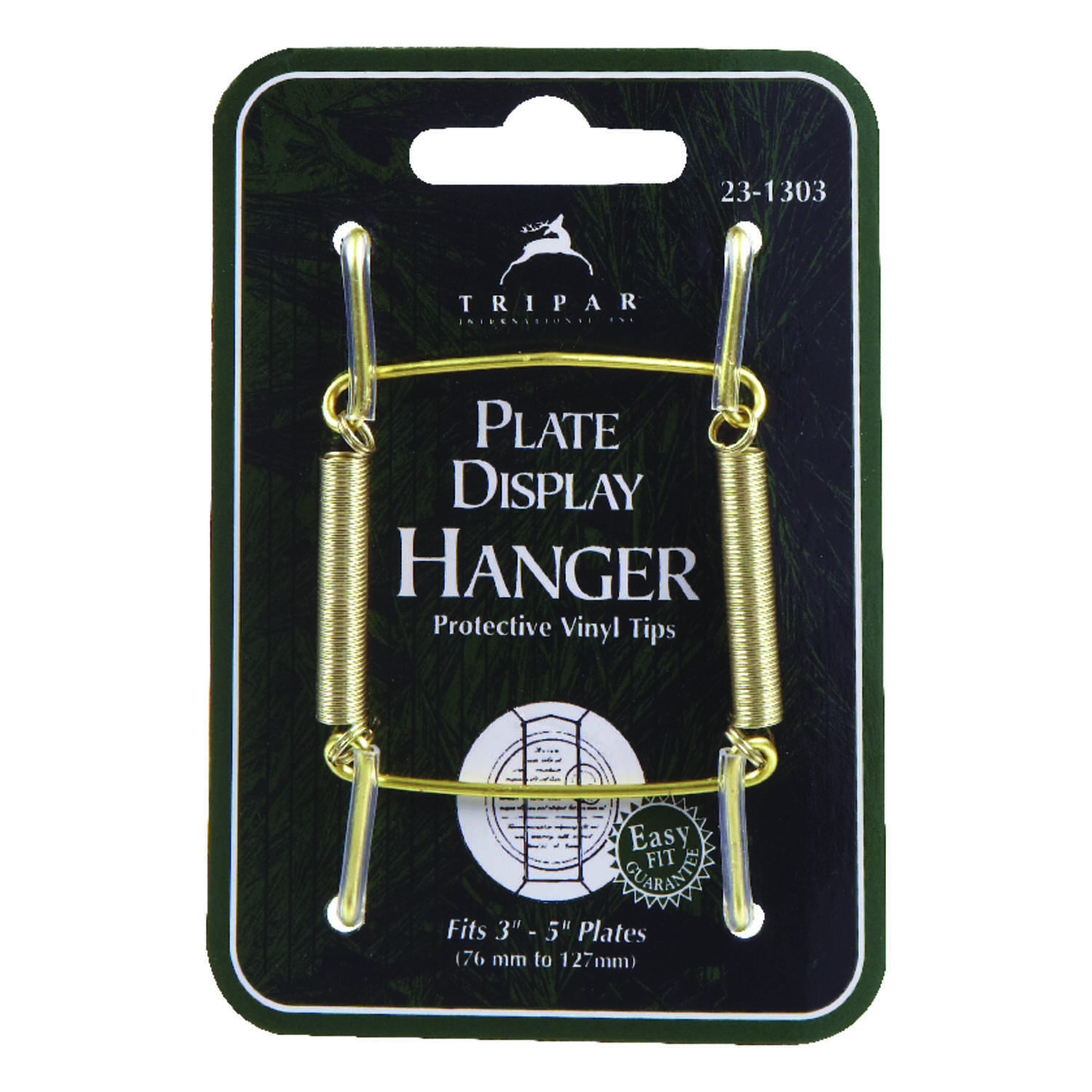 Tripar Plate Hanger Plastic Coated Clear Carded