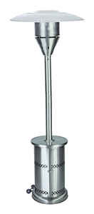 Living Accents  Propane  87-3/4 in. H x 32-1/4 in. D x 32-1/4 in. W Patio Heater  Stainless Steel