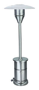 Living Accents  Patio Heater  Propane  Stainless Steel  Patio Heater  32-1/4 in. W x 32-1/4 in. D x