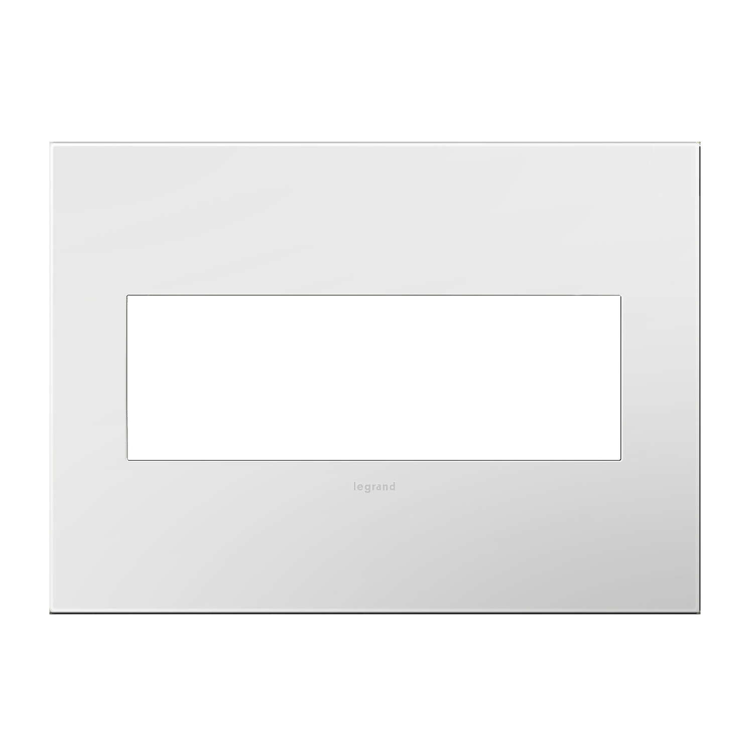 Legrand  Adorne  White  3 gang Thermoplastic Nylon  GFCI/Rocker  Wall Plate  1 pk