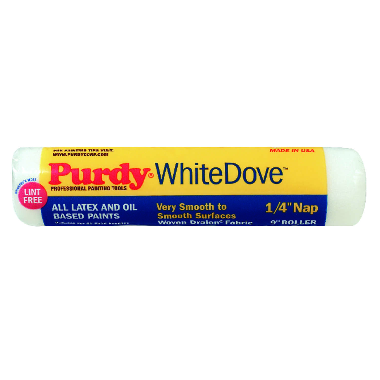Purdy  White Dove  Dralon  1/4 in.  x 9 in. W Paint Roller Cover  1 pk