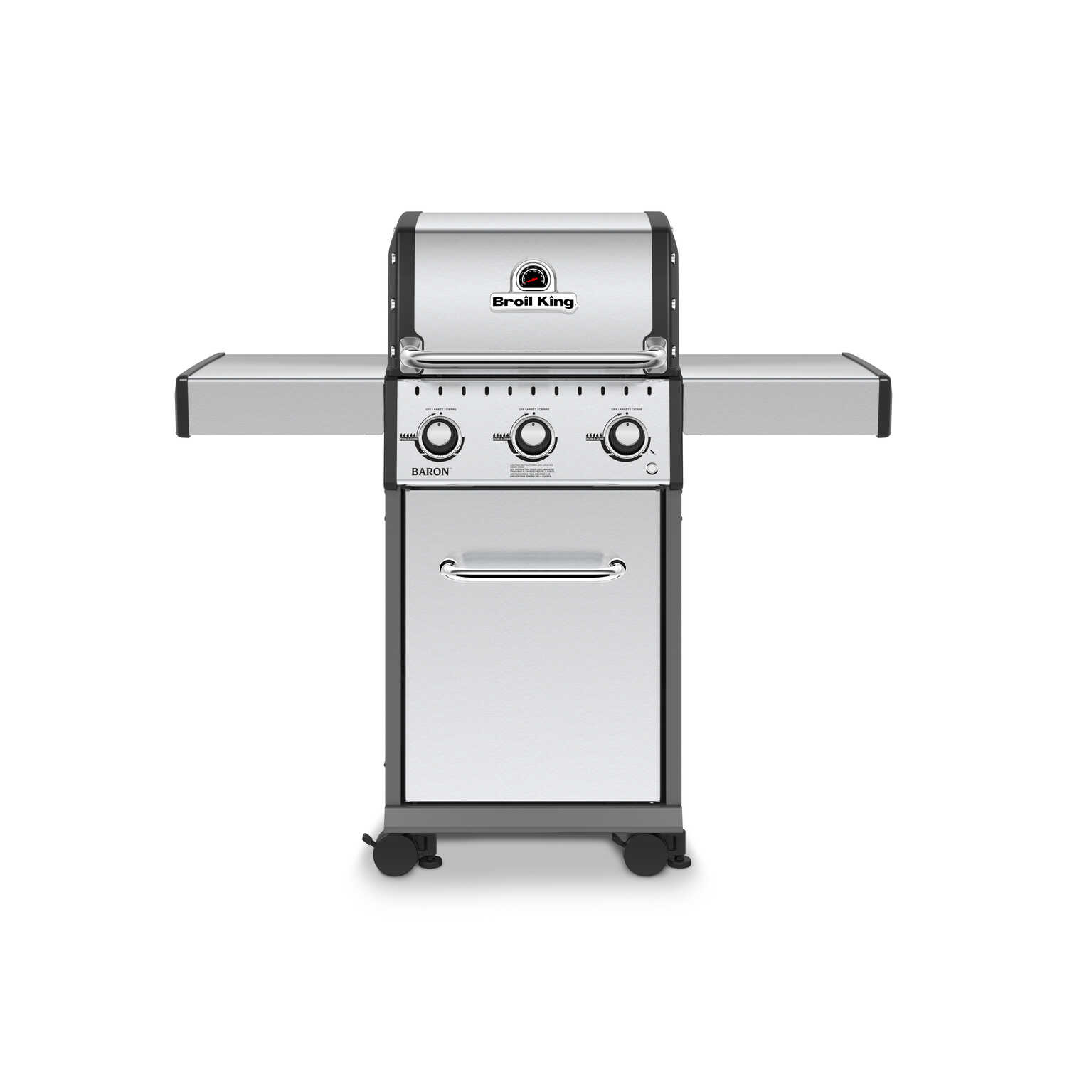 Broil King  Baron S320  3 burners Propane  Grill  Stainless Steel  30000 BTU