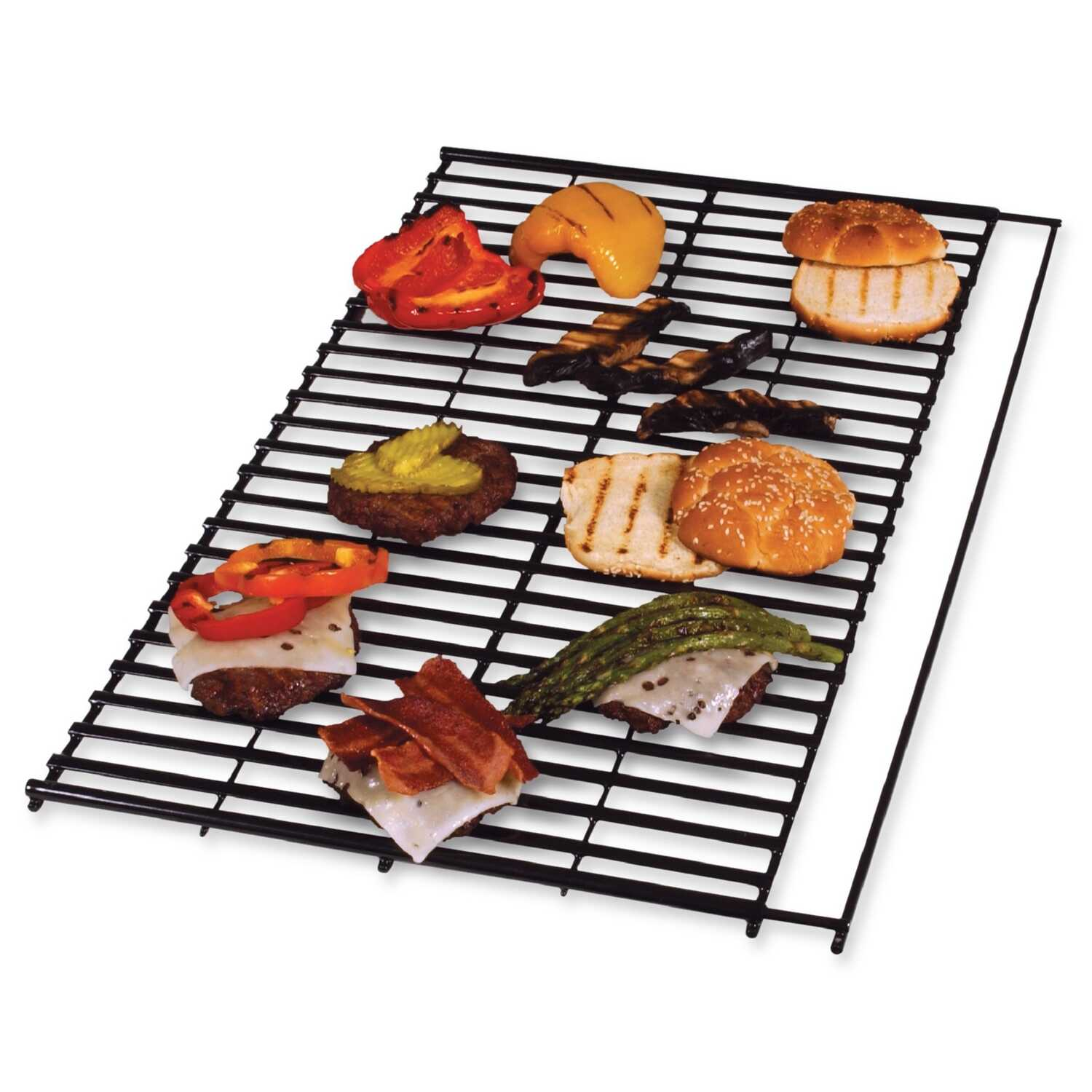 Char-Broil  Steel Porcelain  Grill Grate  0.68 in. H x 25 in. W x 14.19 in. L