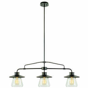 Globe  Oil Rubbed Bronze  Brown  3 lights Pendant Light