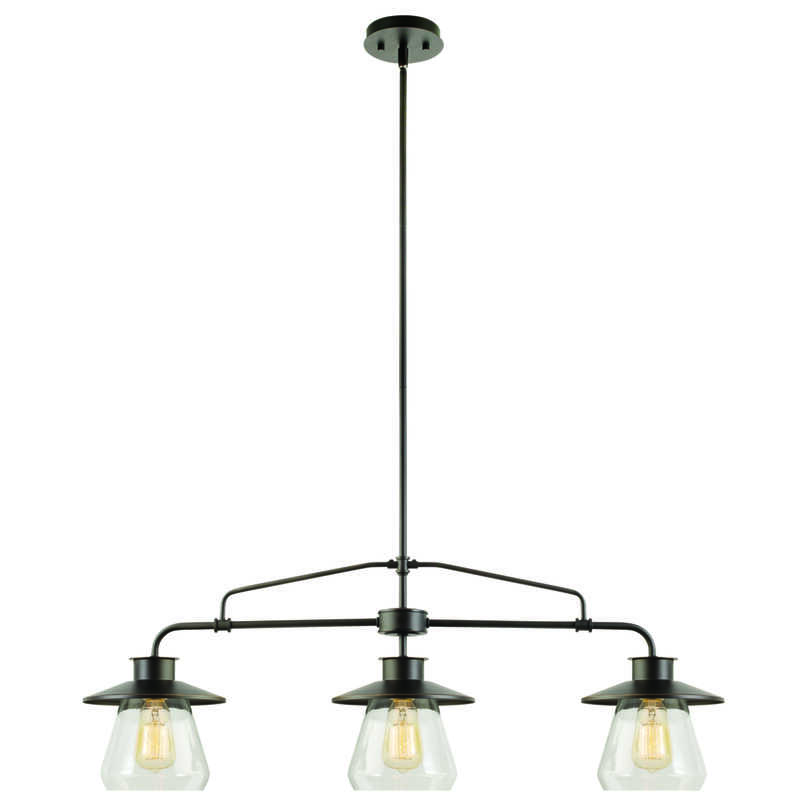 Globe  Matte  Brown  3 lights Pendant Light