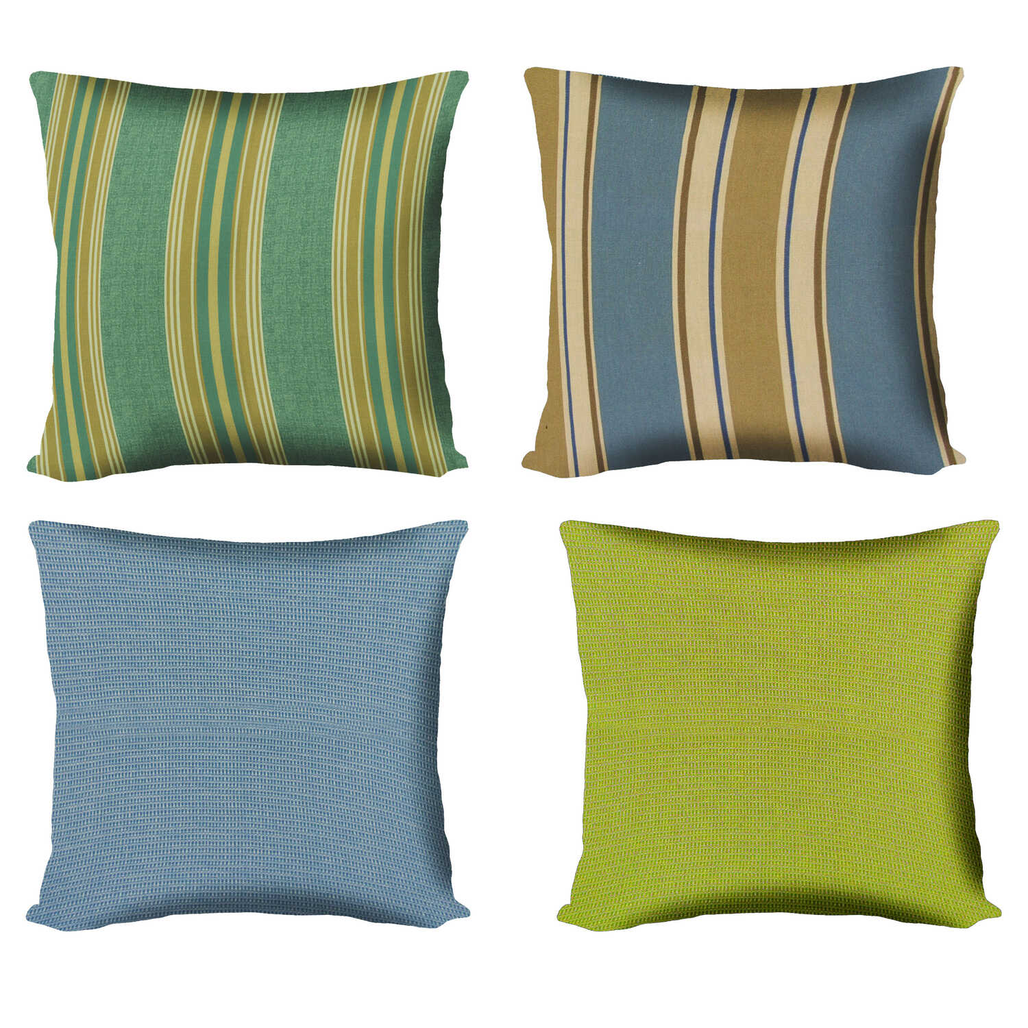 Northcape  Assorted  Polyester  Throw Pillow  15 in. H x 15 in. W x 6 in. L