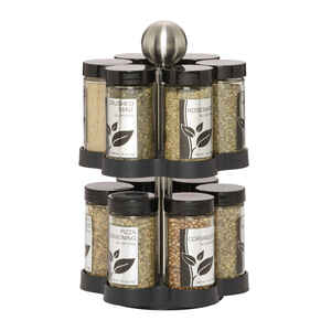 Lifetime  Kamenstein Madison  6-7/8 in. W ABS/Stainless Steel  Spice Rack  13