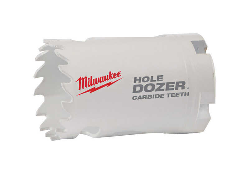 Milwaukee  Hole Dozer  1-3/8 in. Dia. x 2-1/8 in. L Carbide Tipped  Hole Saw  1/4 in. 1 pc.