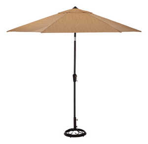 Living Accents  Heritage  9 ft. Tiltable Beige  Patio Umbrella
