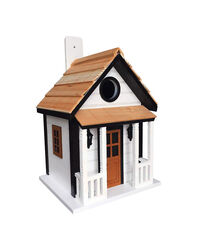 Home Bazaar  9.45 in. H x 6.14 in. W x 7 in. L Wood  Bird House