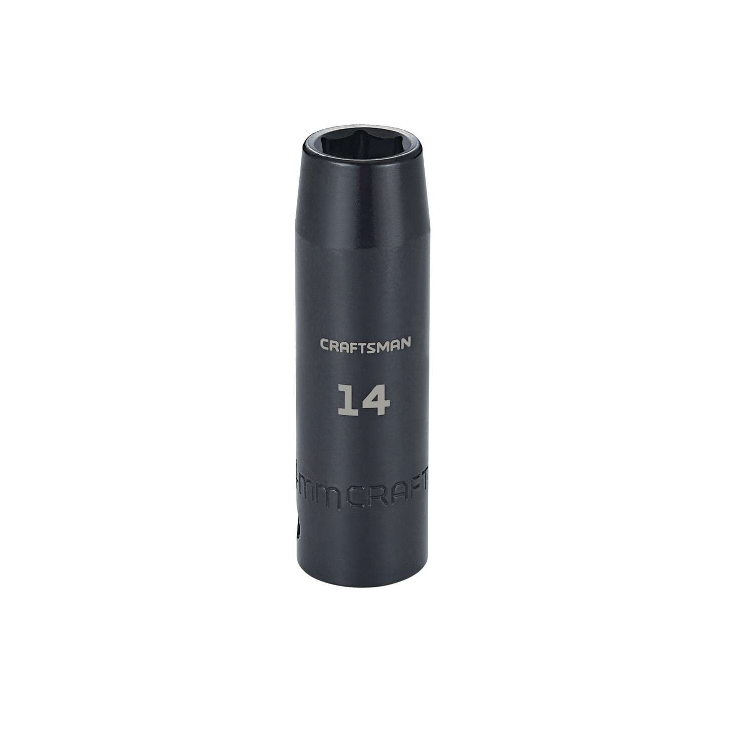 Craftsman 14 mm x 1/2 in. drive Metric 6 Point Deep Deep Impact Socket 1 pc.