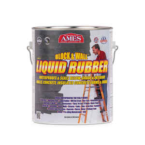 Ames  Block and Wall Liquid Rubber  Matte  White  Water-Based  Waterproof Sealer  1 gal.