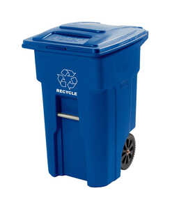 Toter  48 gal. Polyethylene  Recycle Bin Cart