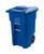 Toter  48 gal. Polyethylene  Wheeled Recycling Bin  Lid Included
