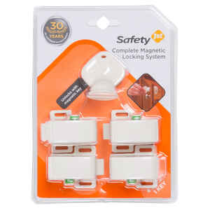 Safety 1st  White  Plastic  Magnetic Cabinet Locks  5 pk