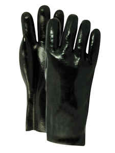 Handmaster  Men's  Indoor/Outdoor  Vinyl  Work Gloves  Black  One Size Fits All