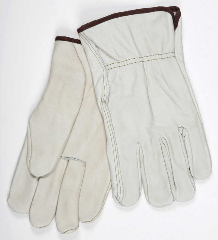 MCR Safety  L  Leather  Driver  Beige  Gloves