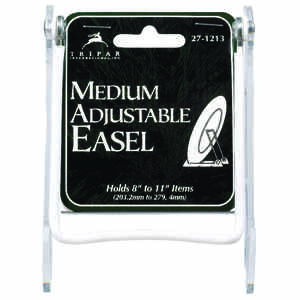 Tripar  Plastic  Adjustable Easel  3.75 in. H x 5.25 in. W