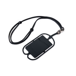 Gear Beast Black Universal Smartphone Lanyard with Card Pocket 17 in. L