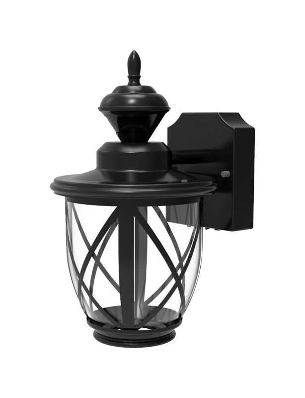 Heath Zenith  Metal  Hardwired  Security Wall Light  Black  Dusk to Dawn