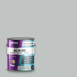 BEYOND PAINT Matte Soft Gray Water-Based All-In-One Paint Exterior and Interior 32 g/L 1 gal.