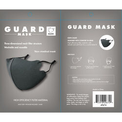 Allure Guard Face Mask Black One Size Fits Most 1 pc.