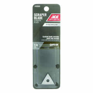 Ace  1 in. W Tungsten Carbine  Triple-Edge  Scraper Blade