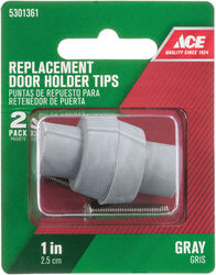 Ace  1 in. H x 1 in. W Rubber  Gray  Door Stop Tip  Over the door clip