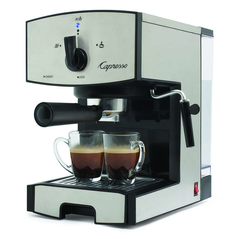Capresso  42  Black/Silver  Coffee & Espresso Maker