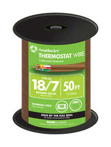 Southwire  50 ft. Solid  18/7  Thermostat Wire  Copper