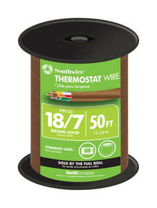 Southwire  50 ft. 18/7  Copper  Solid  Thermostat Wire